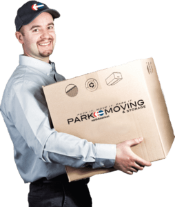 certified mover with box representing Alabama movers and packers