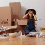 woman frustrated with move