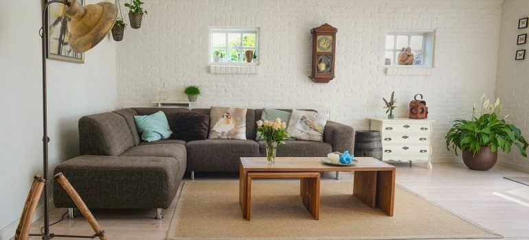 A living room for furniture movers Birmingham to relocate.