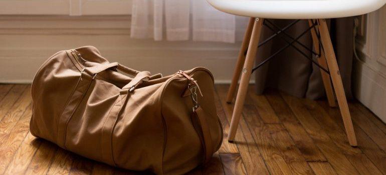 a bag near a chair
