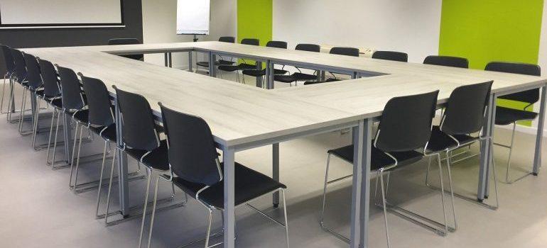A conference room - commercial movers Birmingham AL
