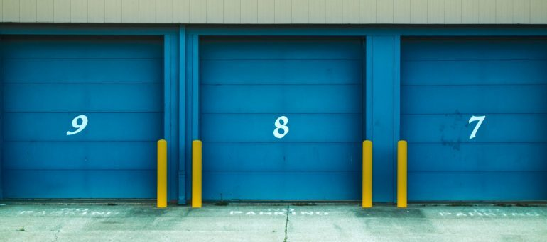 a storage unit doors