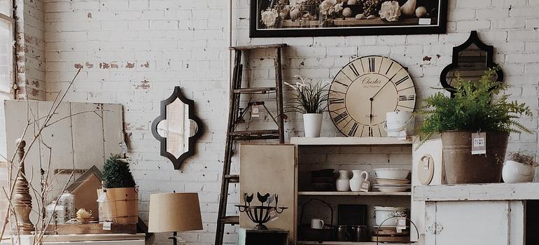 cluttered home