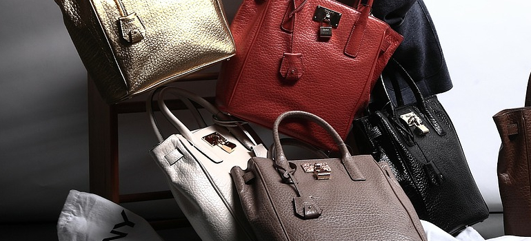 a lot of handbags