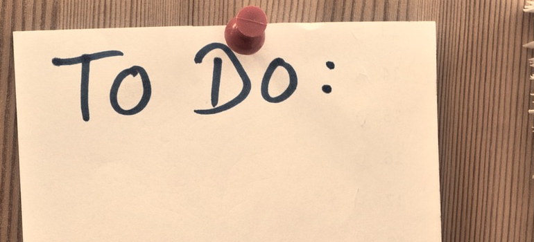a to do list you have to make before : Moving from Leeds to Helena