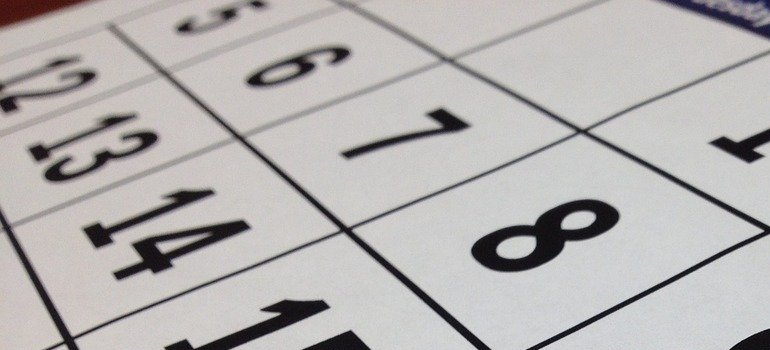 a calendar you will sue to downsize before moving