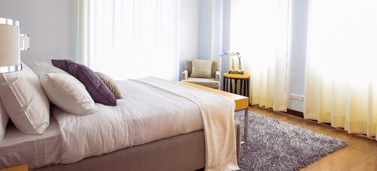 Bedroom you should unpack first in order to settle after moving to Pelham fast