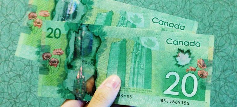 Canadian 20 dollar bills