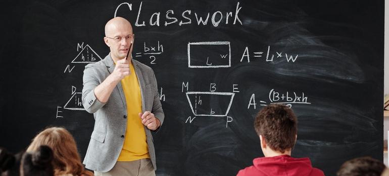 a teacher teaching
