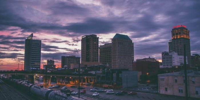 A picture of Leeds skyline